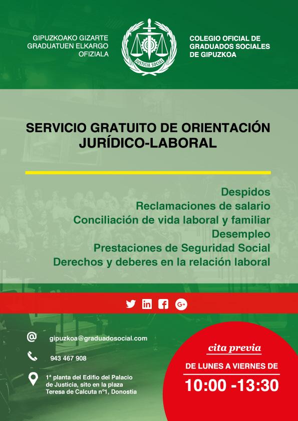 Servicio gratuito orientación jurídico-laboral
